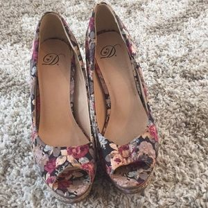 Shoes - Floral heels